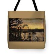 Early Morning At The Yaquina Bay Bridge  Tote Bag
