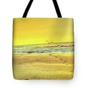 Early Morning Beach Walk Tote Bag