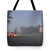 Early Morning Car Lights Tote Bag