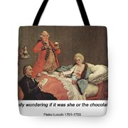 Early Morning Chocolate Tote Bag