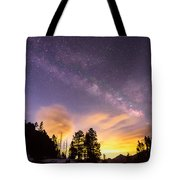 Early Morning Colorful Colorado Milky Way View Tote Bag