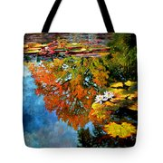 Early Morning Fall Colors Tote Bag