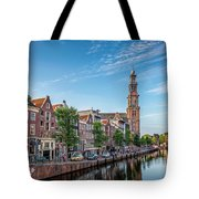 Early Morning In Amsterdam With Canal Tote Bag