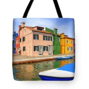 Early Morning In Isola Di Burano Tote Bag
