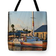 Early Morning In The Harbor Tote Bag