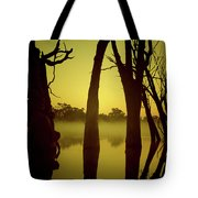 Early Morning Mist At The River Tote Bag