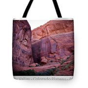 Early Morning Mystery Valley Colorado Plateau Arizona 04 Text Tote Bag