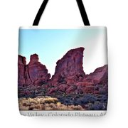 Early Morning Mystery Valley Colorado Plateau Arizona 05 Text Tote Bag