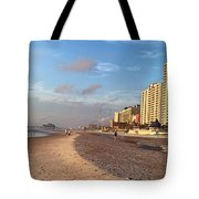 Early Morning On Daytona Beach Tote Bag