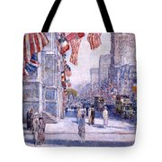 Early Morning On The Avenue In May 1917 - 1917 Tote Bag