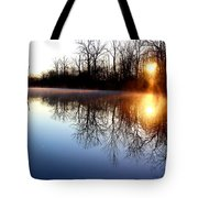 Early Morning On The Canal Tote Bag