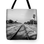Early Morning On The Rail  Tote Bag