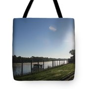 Early Morning On The Savannah River Tote Bag