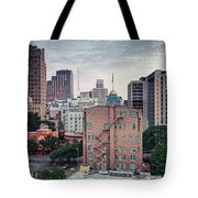 Early Morning Panorama Of Downtown San Antonio Skyline And Architecture - Bexar County Texas Tote Bag