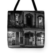 Early Morning Paseo Del Prado Havana Cuba Bw Tote Bag