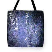 Early Morning Pearls Dew Kissed Spider Web Tote Bag