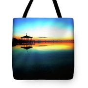 Early Morning Rays Over The Boat House Tote Bag