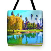 Early Morning Tee Time Tote Bag