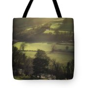 Early Morning Welsh Sheep Farming Tote Bag