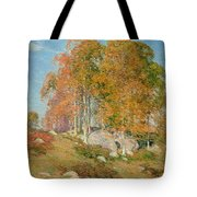 Early October Tote Bag by Willard Leroy Metcalf