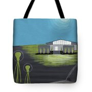 Early Painting Father And Son Aliens Tote Bag