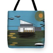 Early Painting Futuristic House Tote Bag
