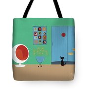 Early Painting Mid Century Room Tote Bag