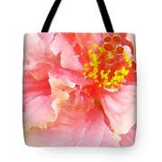 Early Pink Hibiscus Tote Bag