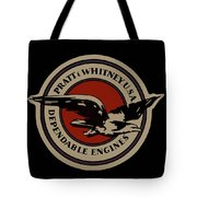 Early Pratt And Whitney Company Logo Tote Bag