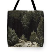 Early Snow Tote Bag by Caspar David Friedrich