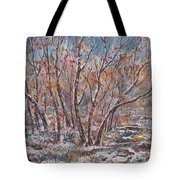 Early Snow. Tote Bag
