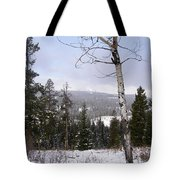 Early Snows In The Rockies Tote Bag