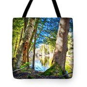 Early Spring On The River Tote Bag