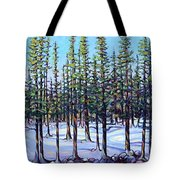 Early Spring, Trees In Training Tote Bag