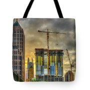 Early Start Skyscraper Construction Atlanta Georgia Art Tote Bag