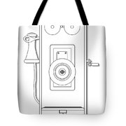 Early Telephone Line Drawing Tote Bag