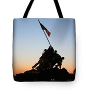 Early Washington Mornings - Iwo Jima Memorial Tote Bag