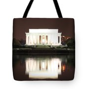 Early Washington Mornings - Lincoln Reflecting Tote Bag