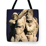 Early Washington Mornings - Team Iwo Jima Tote Bag
