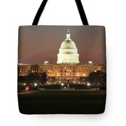 Early Washington Mornings - Us Capitol In The Spotlight Tote Bag