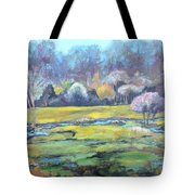 Early Wet Spring Tote Bag