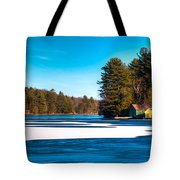 Early Winter On Old Forge Pond Tote Bag