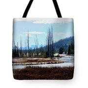 Early Winter On The Yellowstone Tote Bag