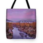Early Winter Sunset Tote Bag