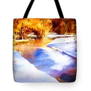 Early Wyoming Snow Tote Bag