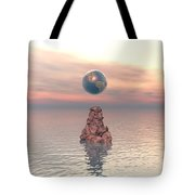Earth Above The Sea Tote Bag