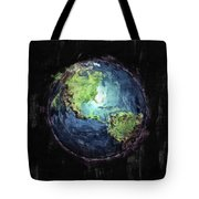 Earth And Space Tote Bag