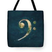 Earth Art  -  Bass Clef Tote Bag