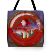 Earth Button Tote Bag