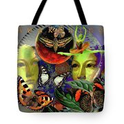Earth Energy Meridan Tote Bag